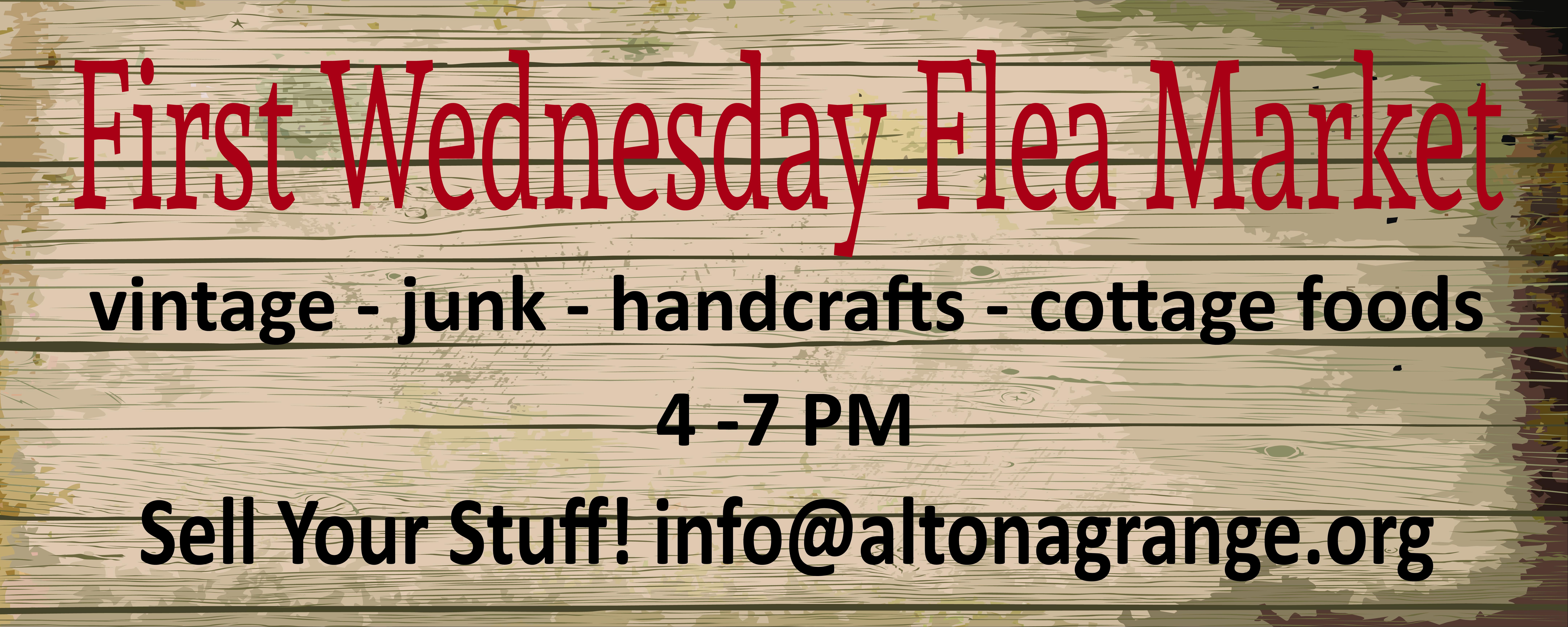 First Wednesday Flea Market